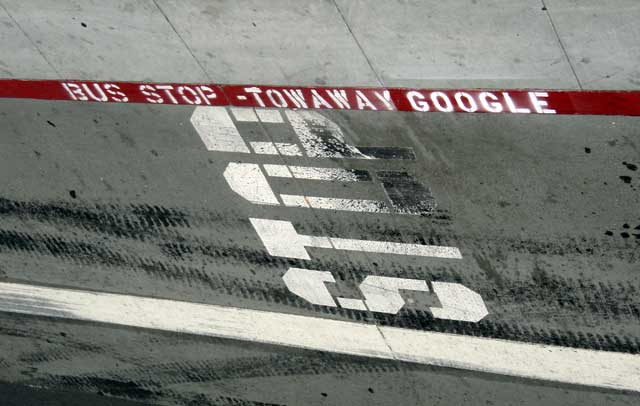 Tow Away Google Curb Paint